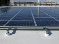 PV solar panels on EverGuard TPO roof