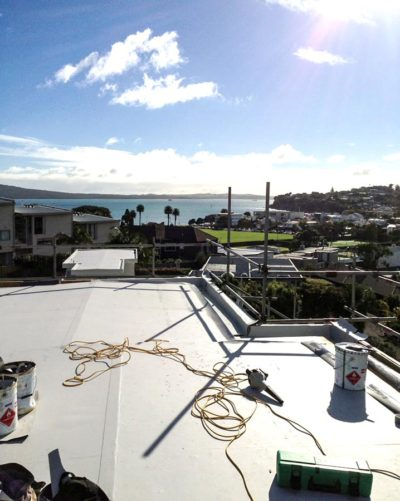TPO roofing with a view of Rangitoto